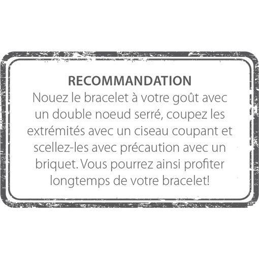 Empfehlung Anleitung zum Binden Stempel auf Rückseite Französisch