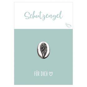 Handschmeichler Schutzengel für dich mit einer Münze aus Metall mit Flügel