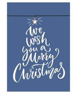 Armband Merry Christmas in der Farbe schwarz mit einem Stern Anhänger in silber