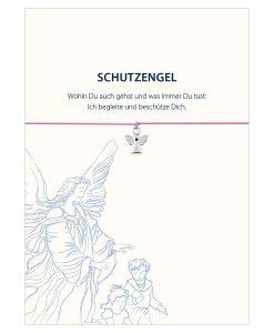 Armband Schutzengel in den Farben rosa und hellblau mit einem Engel in silber