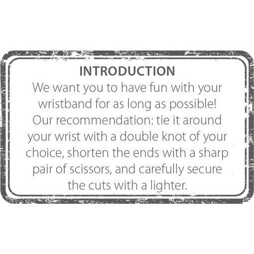 Empfehlung Anleitung zum Binden Stempel auf Rückseite Englisch