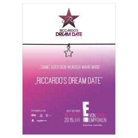 Armband Riccardo Dream Date in der Farbe schwarz mit einem Stern als Anhänger in silber