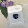 Handschmeichler Von Herzen mit Herz blau aus Halbedelstein Sodalith