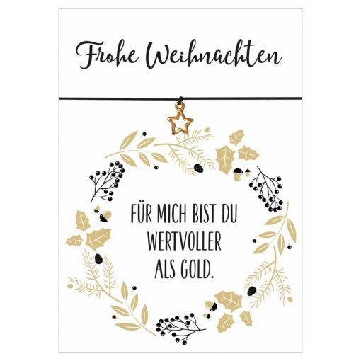 Frohe Weihnachten Gold.Armband Frohe Weihnachten Wertvoller Als Gold